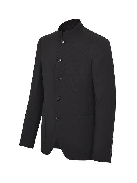 5 Button Mandarin Collar Blazer