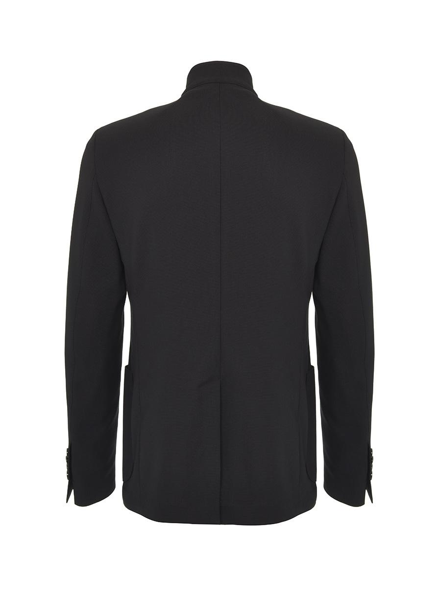 5 Buttons Mandarin Collar Blazer
