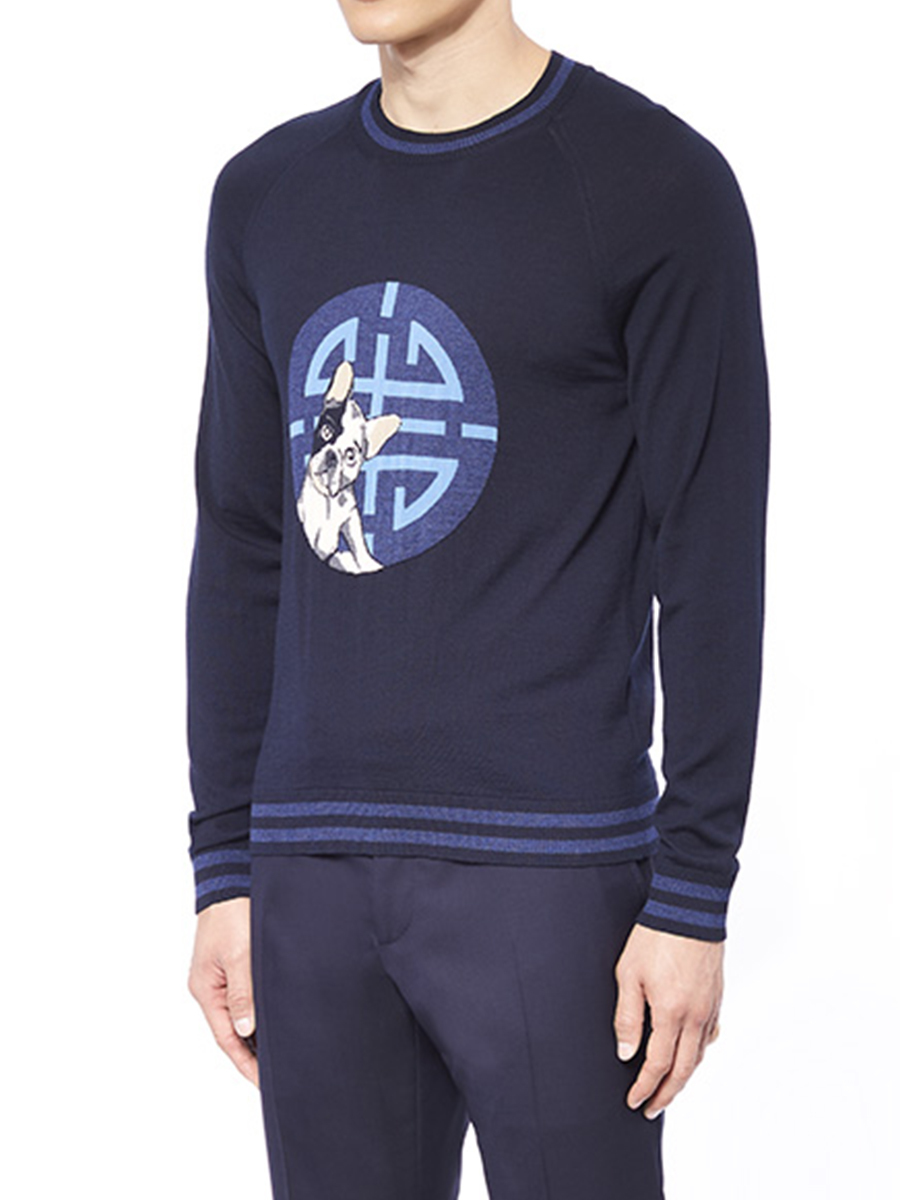Laki Crew-Neck Jacquard Sweater