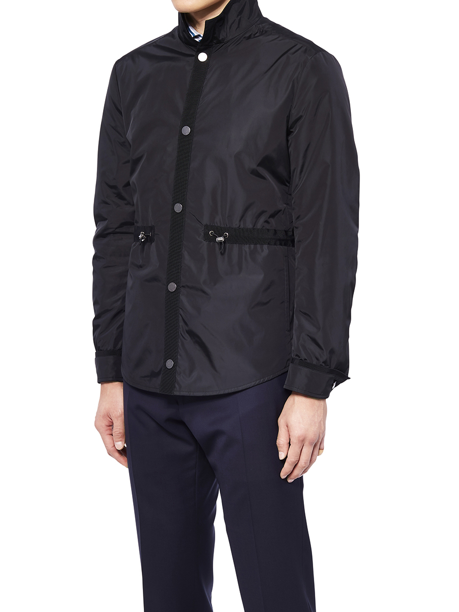 Stand-up Collar Jacket With Gros-Grain
