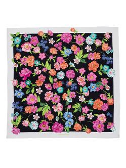 Flower Silk Twill Foulard