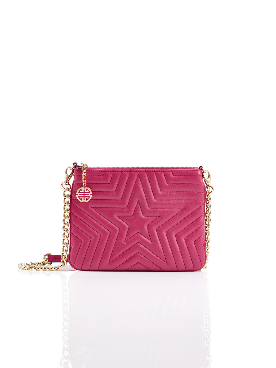 Star Clutch With Printed Lining