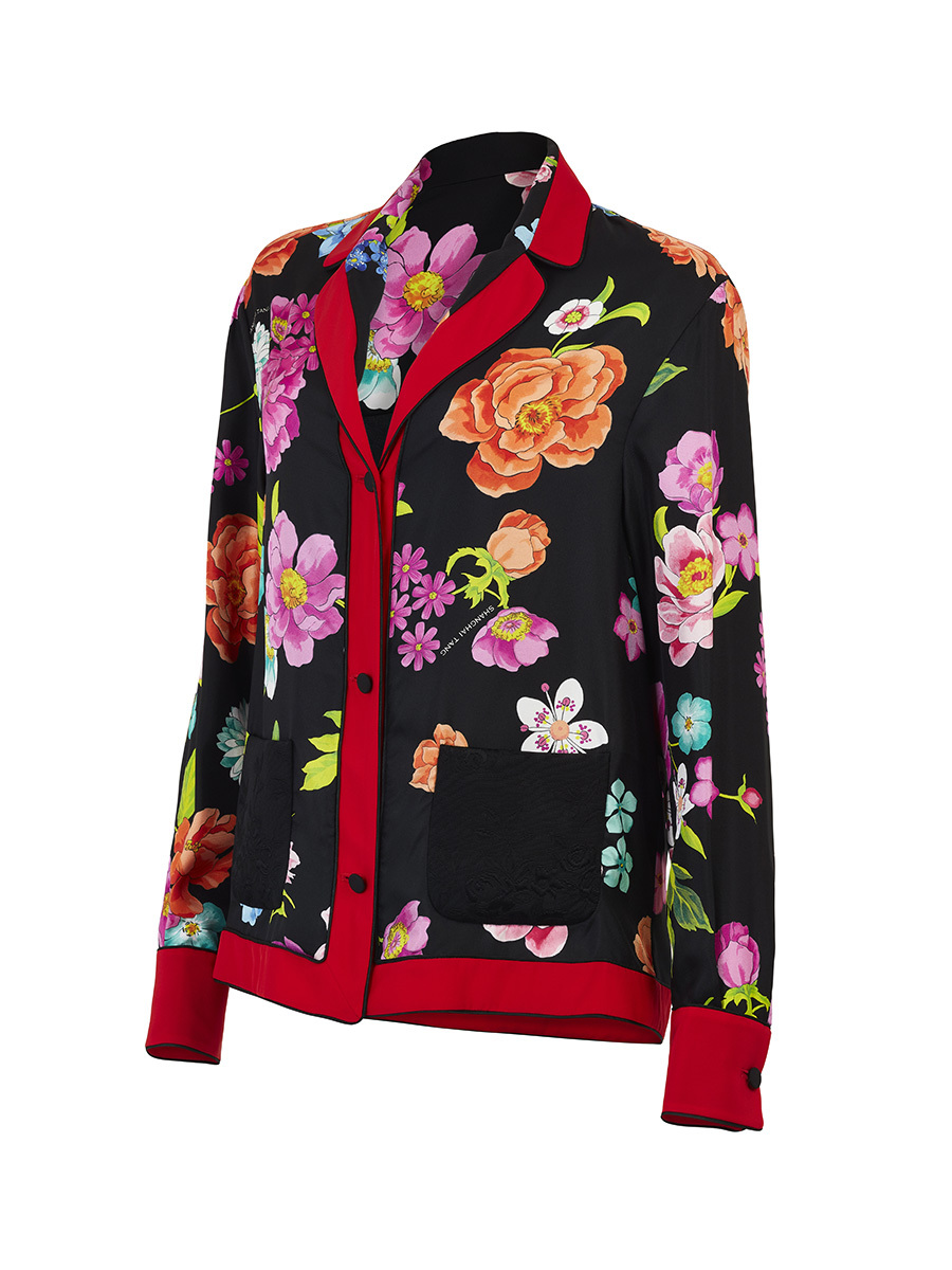 Flower Pajama Silk Shirt