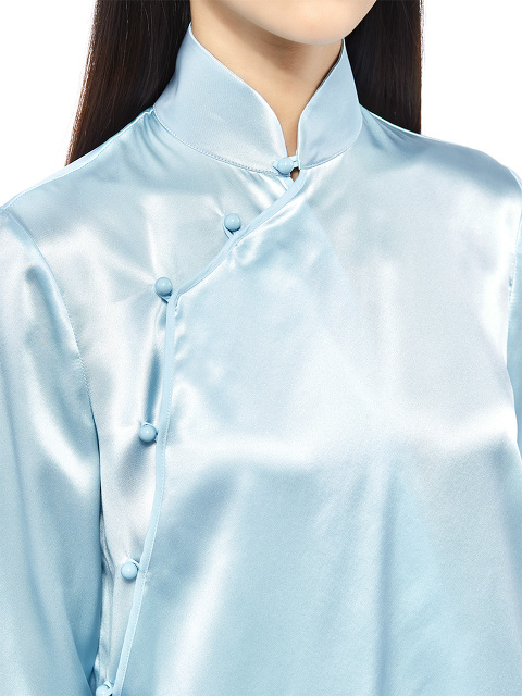 Qipao Long Sleeves Silk Blouse