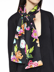 Flower Long Cardigan With Scarf