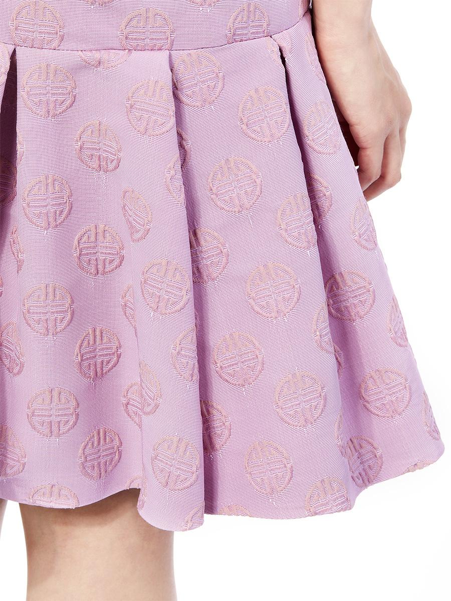 Shou Jacquard Short Dress