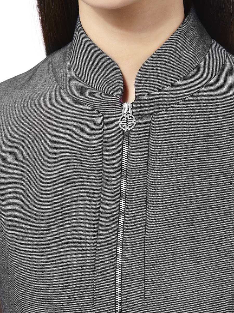 Wool-Cotton Denim Dress