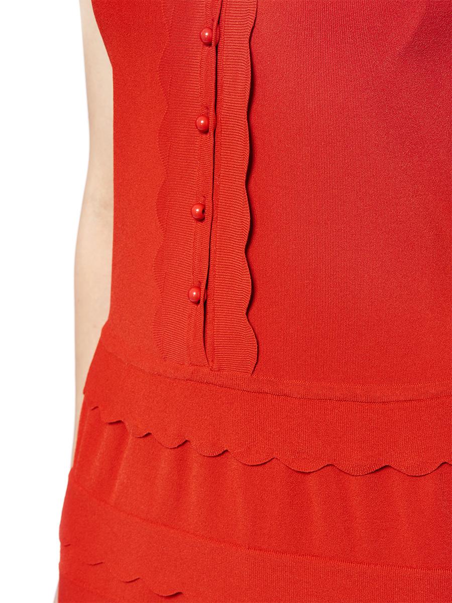 Mandarin Collar Ruffles Knit Dres