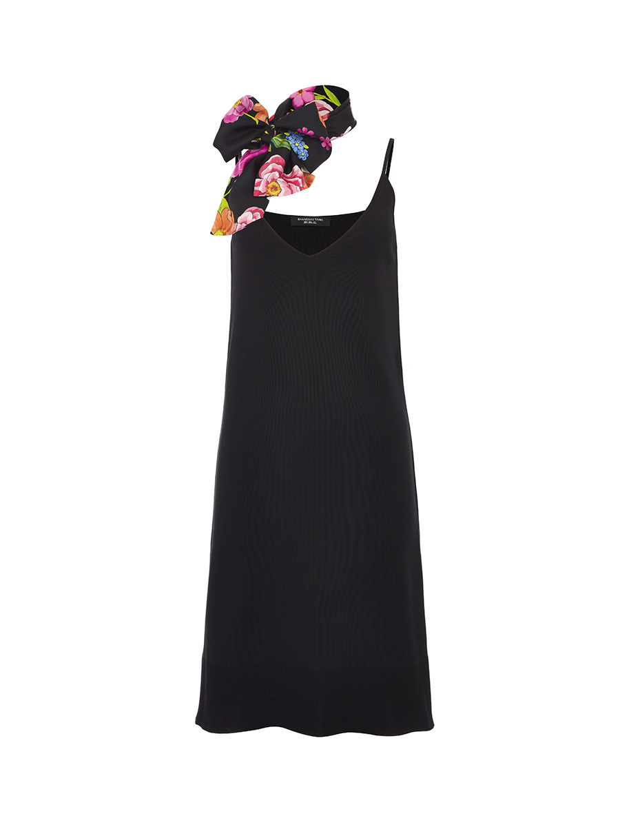 Flower Print Scarf Dress