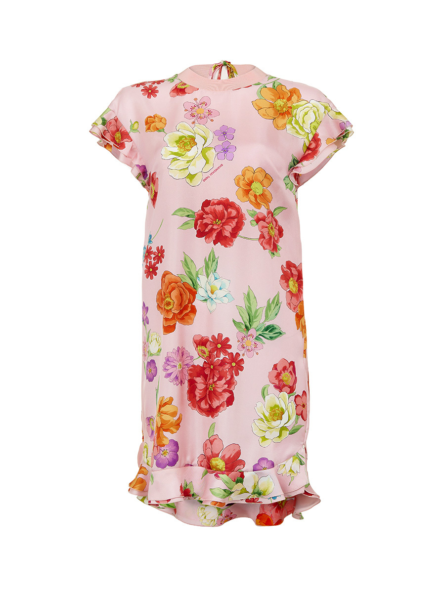 Flower Printed Short Dress