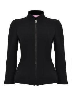 Crepe Mandarin Collar Jacket