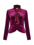 Velvet Jacket With Bow