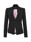 1 Button Mandarin Collar Jacket