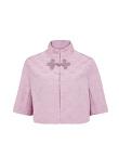 Cropped Mandarin Collar Jacket