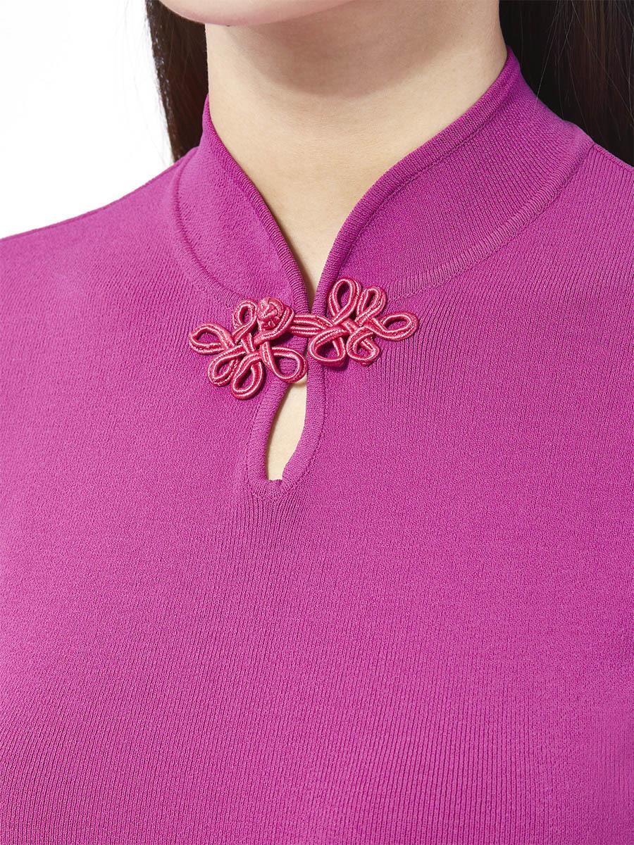 Viscose Short Sleeves Scallops Knit Top