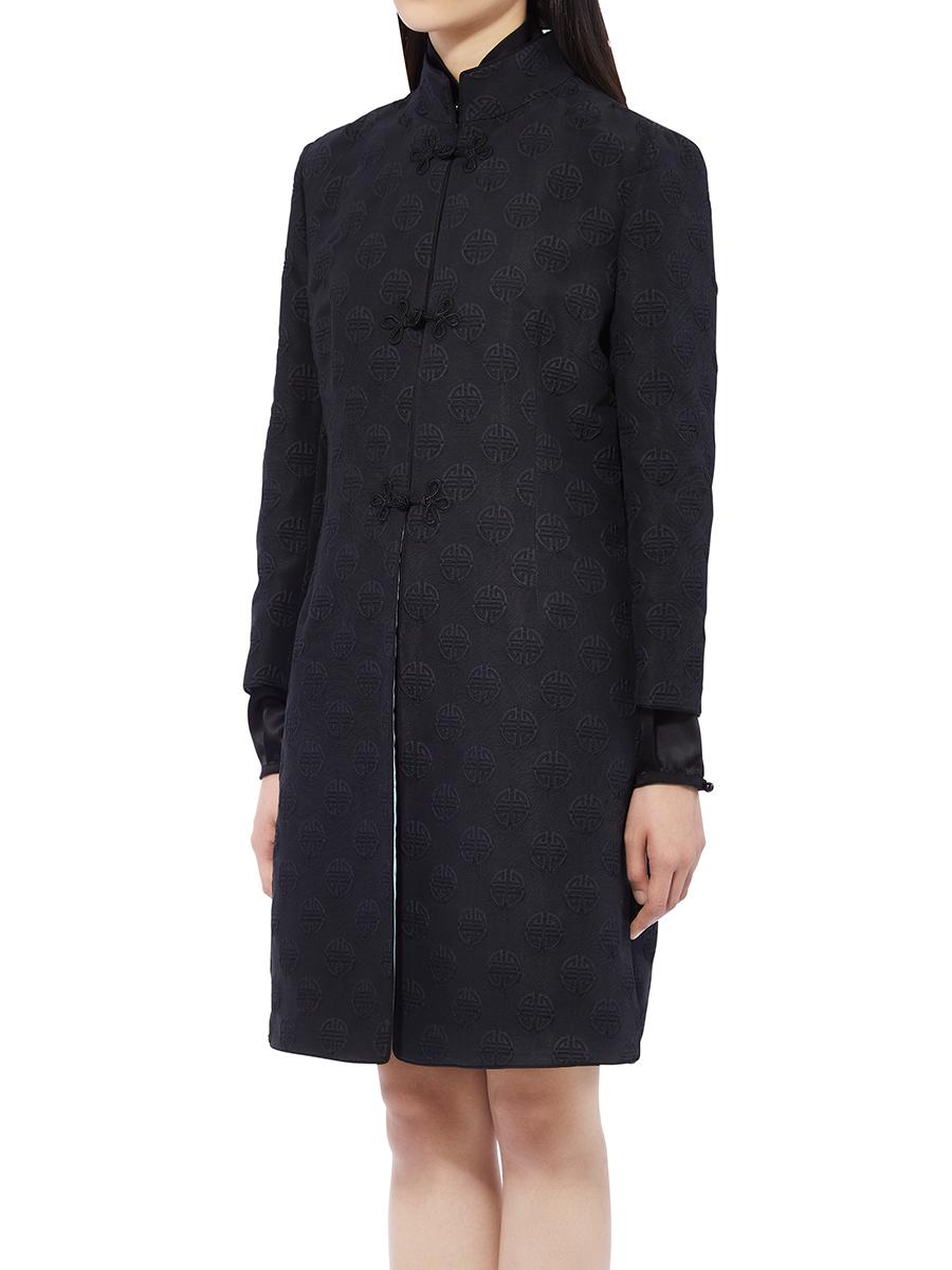 Shou Jacquard Chinese Coat