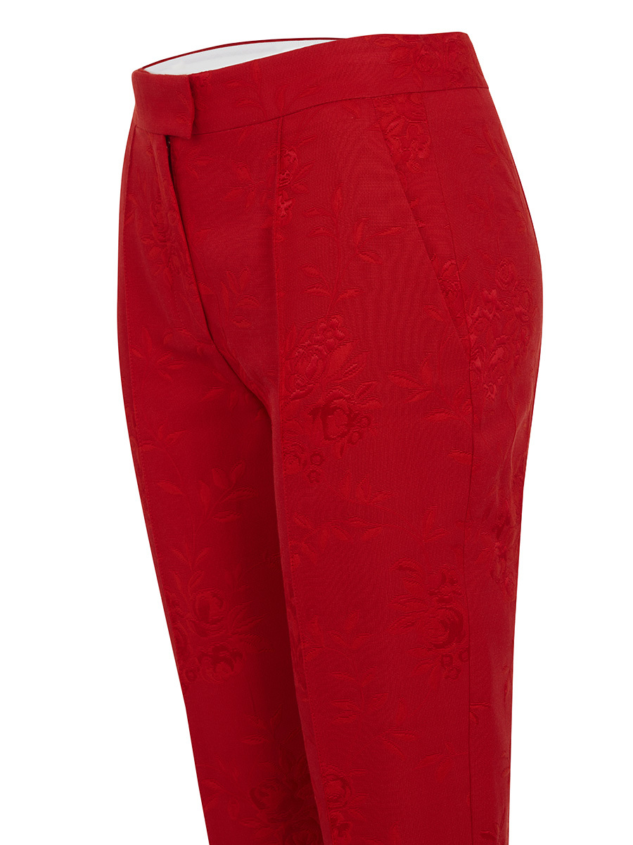 Flowers Jacquard Pants