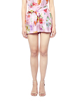 Flower Print Silk Shorts