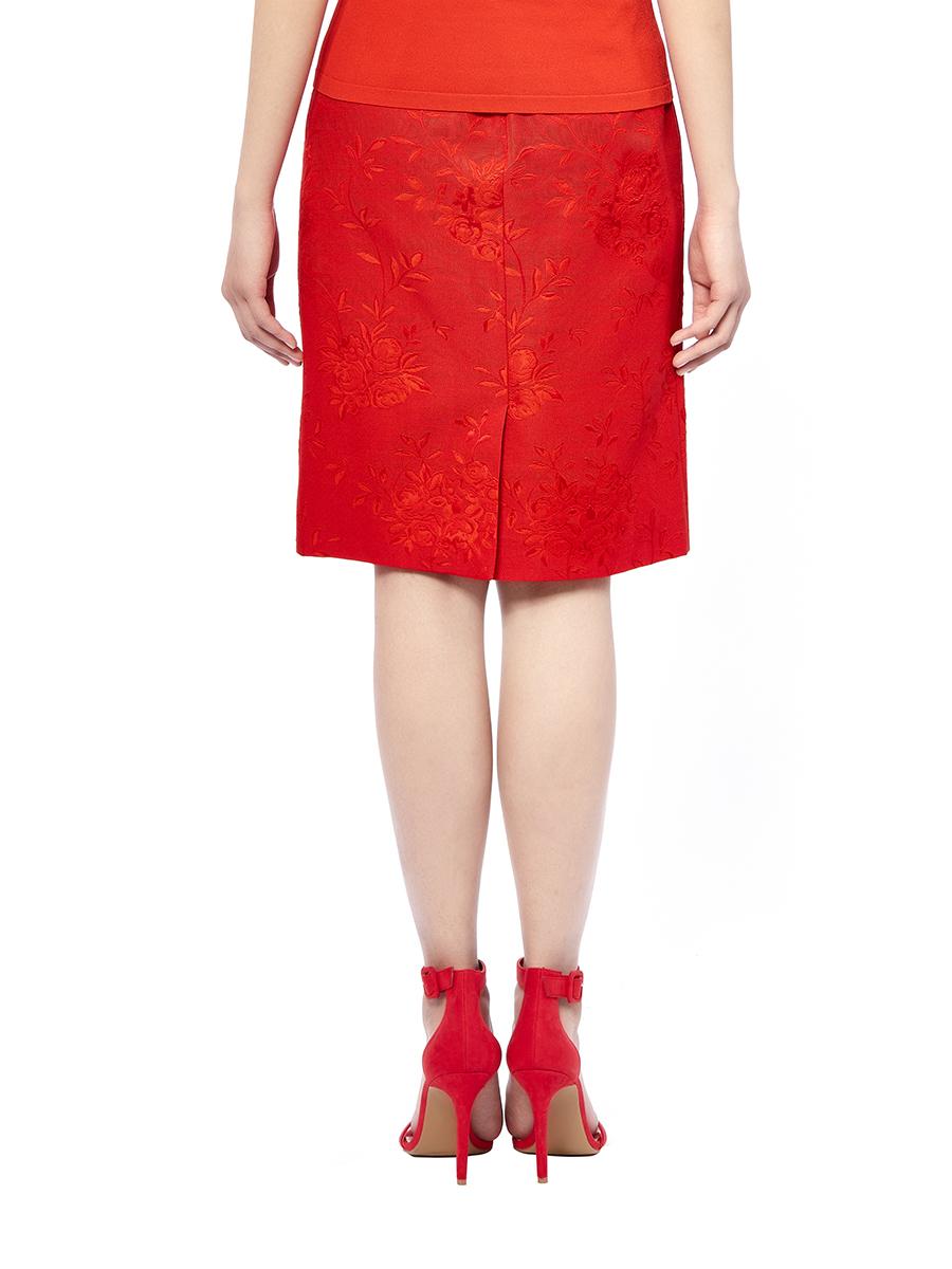 Flowers Jacquard Skirt