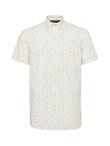 Dragonfly Print Short Sleeve Cotton Shirt