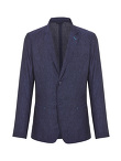 Linen 2 Buttoned Standing Collar Jacket