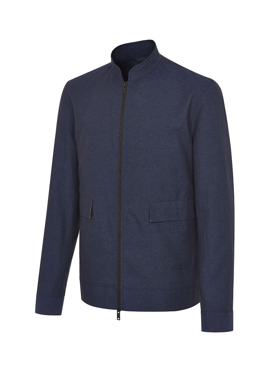 Cotton Linen Zip Up Jacket