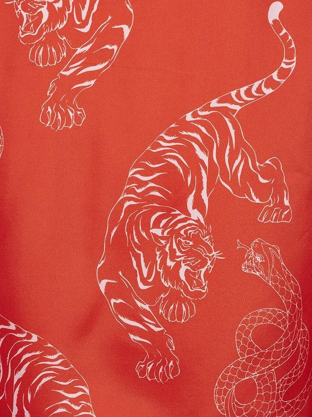 Pyjama Shirt With Tiger And Snake Print