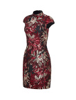 Jacquard Qipao with Jersey