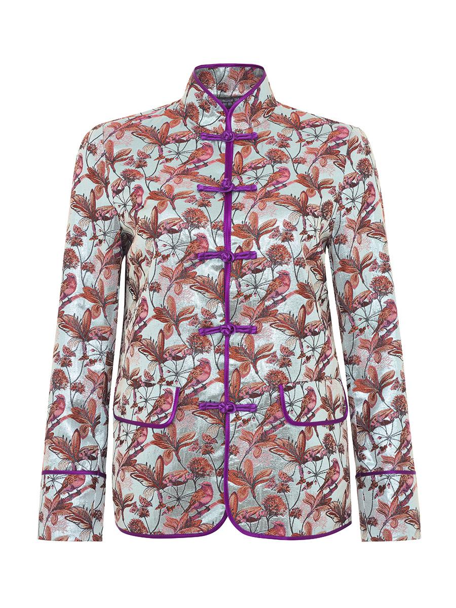 Multicolor Jacquard Chinese Jacket