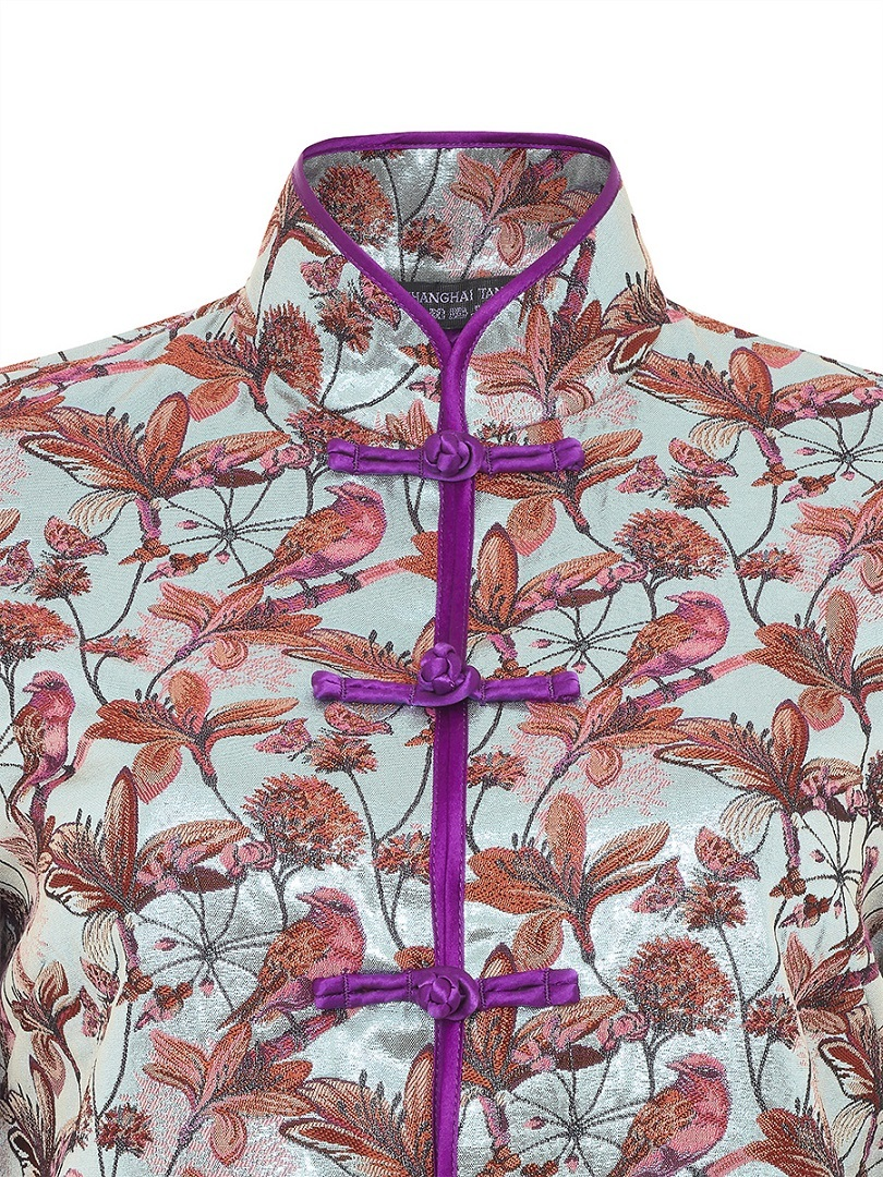 Bird and Floral Jacquard Chinese Jacket