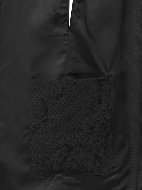Jacquard Cape with Leather Buttons