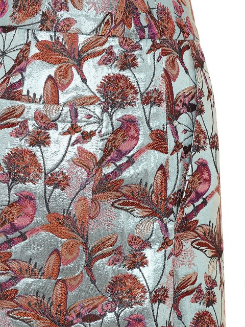 Bird and Floral Jacquard Culottes