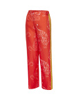 Silk Twill Pijiama Pants With Tiger And Snake Print