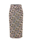 Multicolor Jacquard Chinese Pencil Skirt