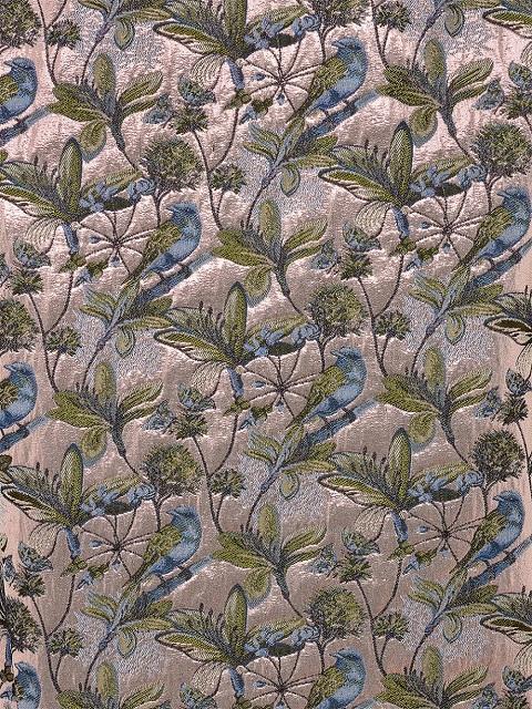 Bird and Floral Jacquard Pencil Skirt