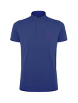 Men Dragon Embroidery Pique Polo