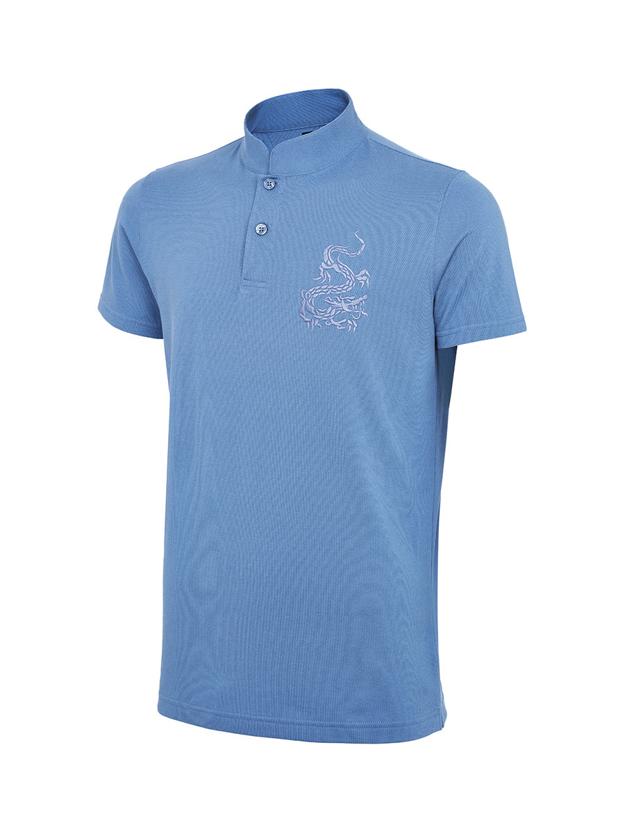 Dragon Embroidery Pique Polo Shirt
