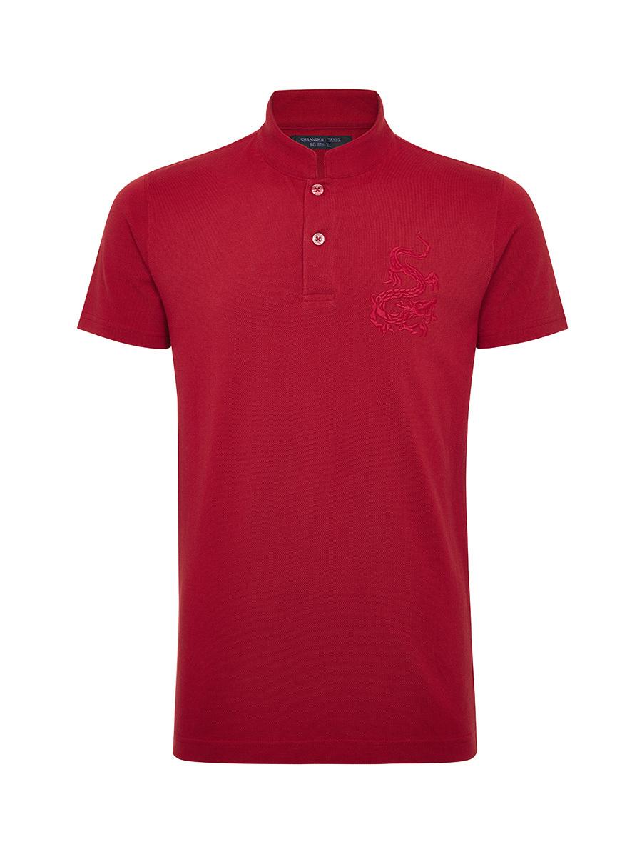Dragon Embroidery Pique Polo Shirt