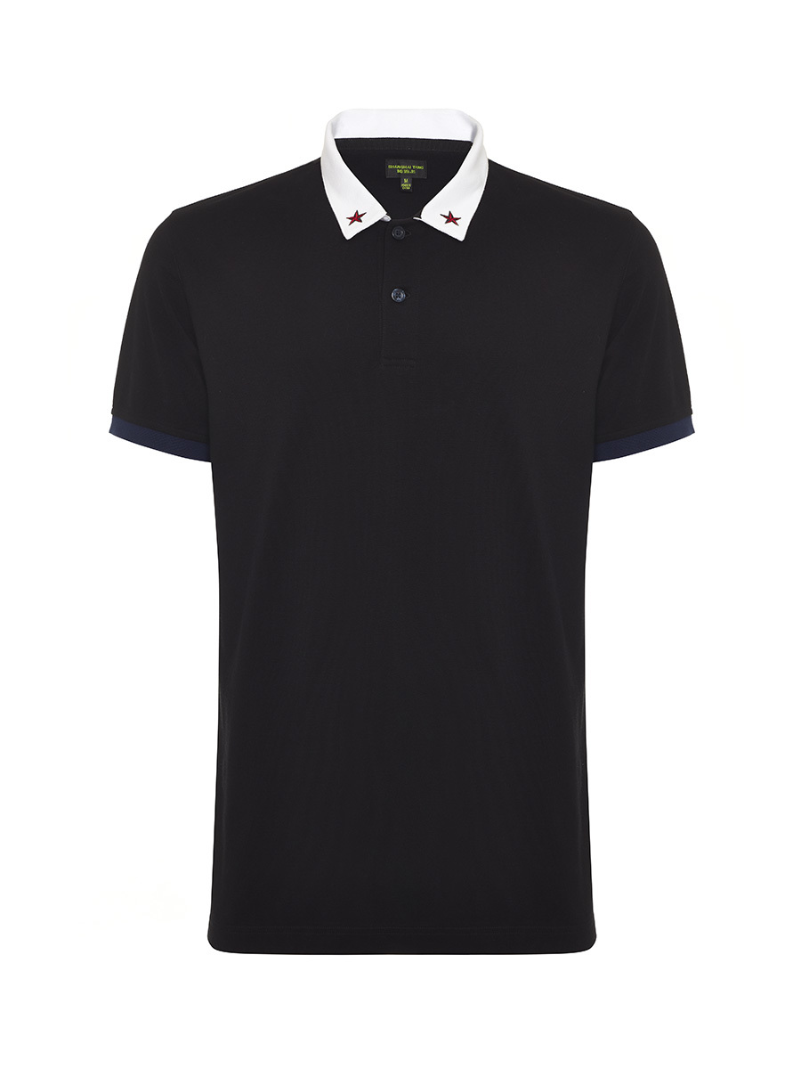 Regular Fit Polo Shirt with Star on Collar