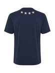 Stretch Cotton T-shirt with Front and Back Star Embroidery