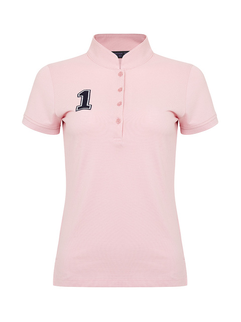 Slim Fit Polo Shirt with Number and Motif Patch