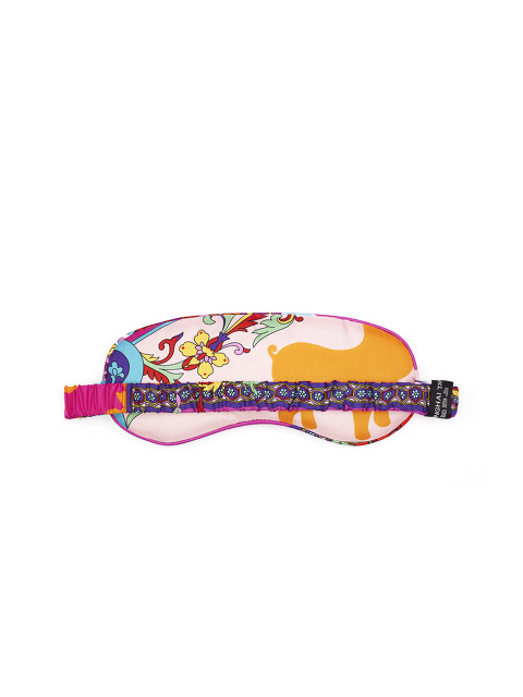 Foulard Print Silk Eye Mask