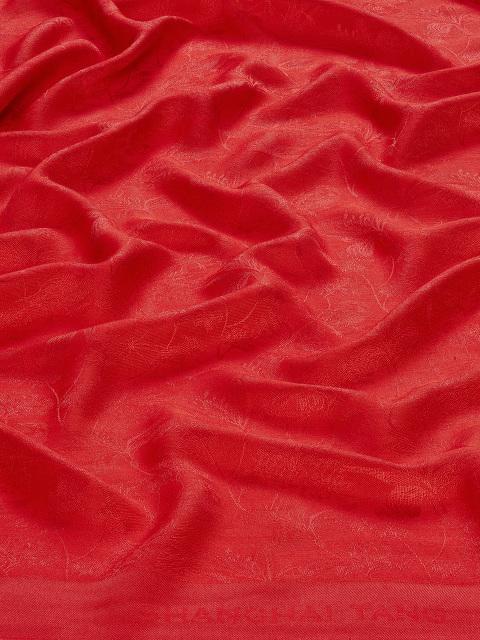 Bird Jacquard Silk-Wool Scarf