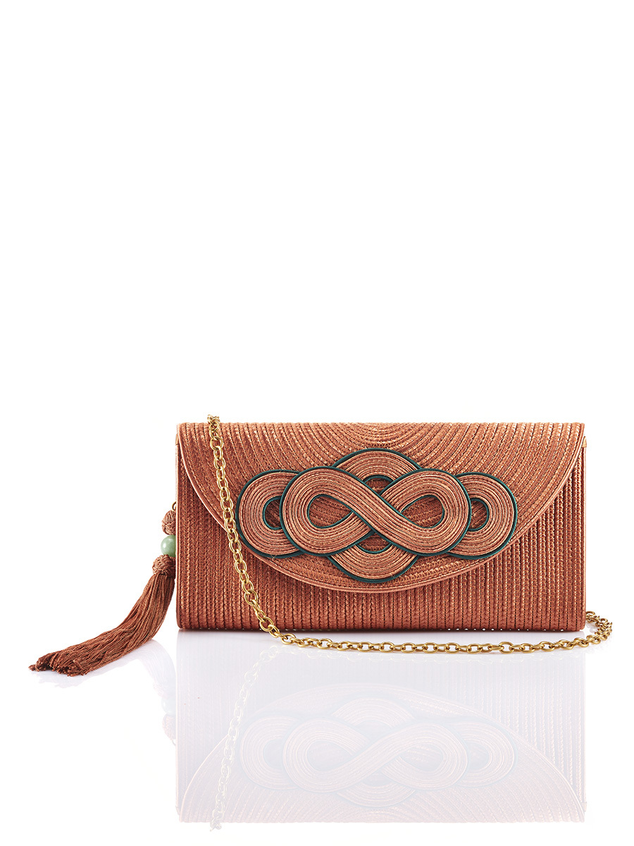 Rayon Braided Knot Clutch