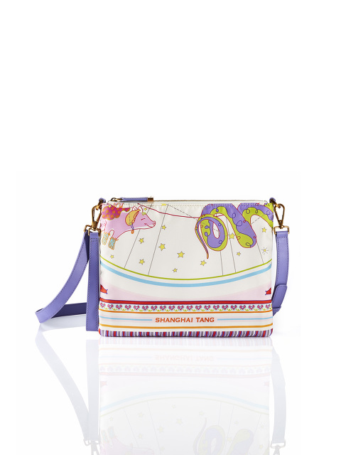 Foulard Print Silk 3-Way Crossbody Pouch