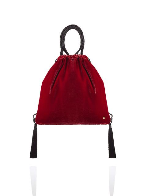 Velvet 2-way Drawstring Bag with Tassels