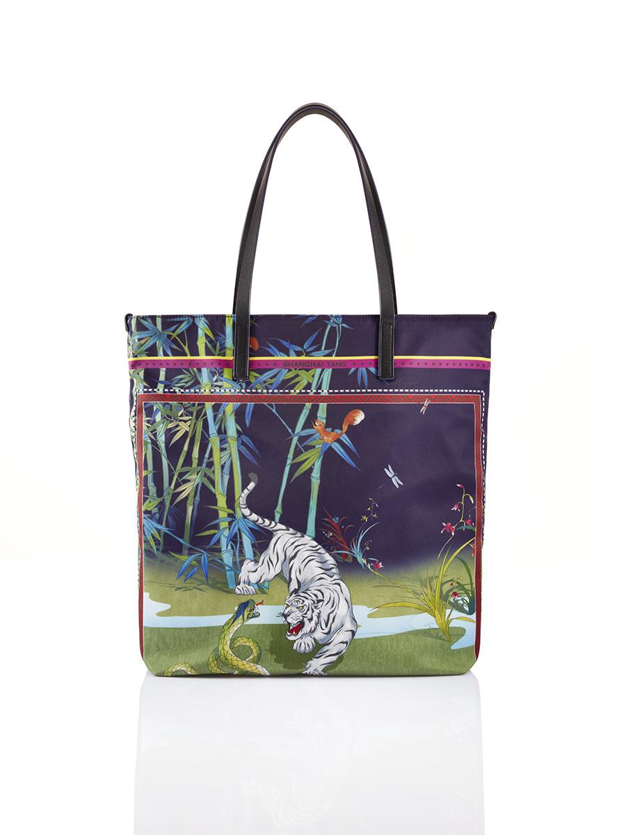 Chinese Landscape Print Shopper Tote – Tiger & Snake