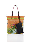 Chinese Landscape Print Shopper Tote – Fish & Turtle