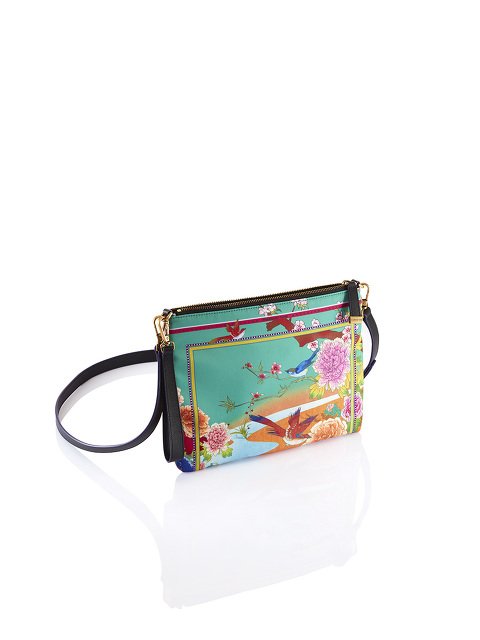 Chinese Landscape Print 2-way Clutch – Birds and Flowers