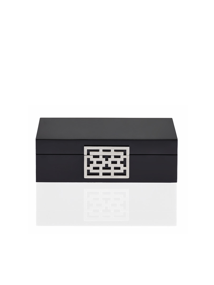 Lattice 7-Day Lacquer Cufflinks Box